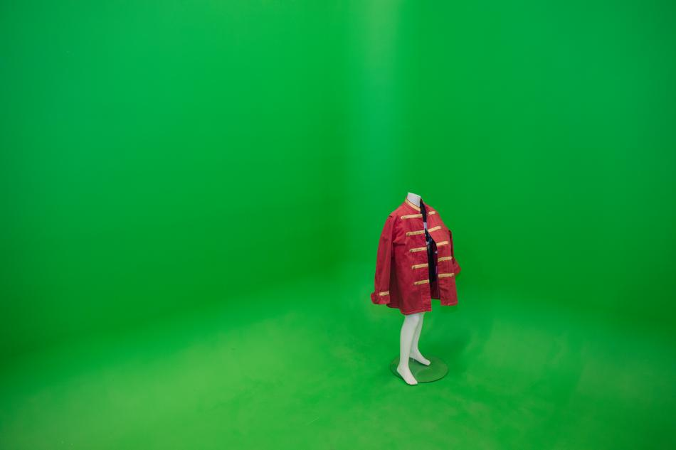 Greenscreen i Ystad Studios Visitor Center. Foto Jonas Thun