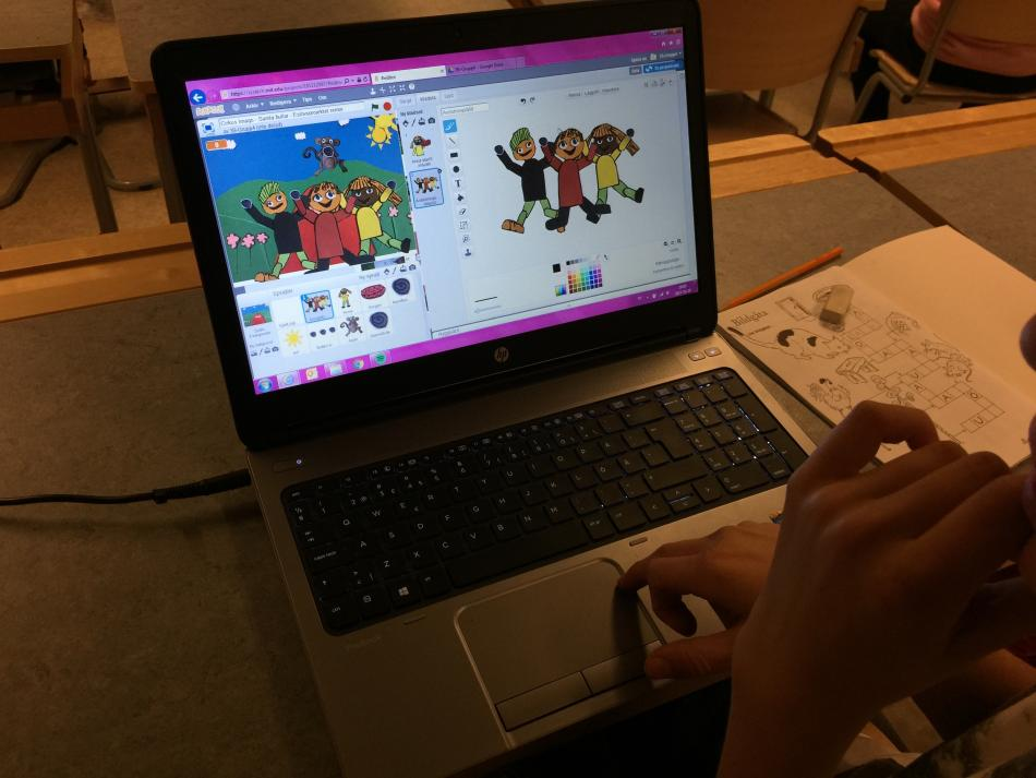 Workshop animation och digitala spel. Foto: Carolina Falk